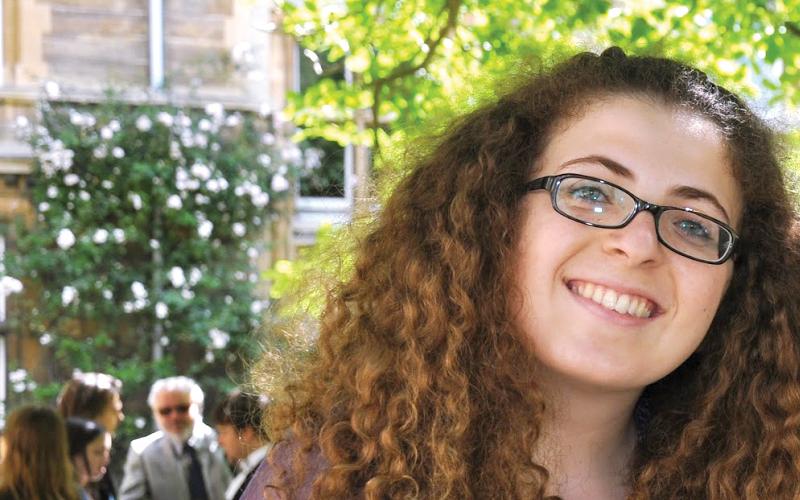 Genevieve, 20 years old, won this year's Graeme Clark Scholarship Award.